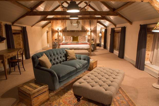 The Hayloft Hideaway at the Pig at Combe.