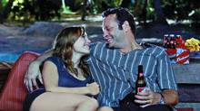 Malin Akerman and Vince Vaughn star in Couples Retreat, a comedy about four Midwestern couples who take a holiday on a tropical island resort. Sunshine and therapy ensue. (Photo Credit: Universal Pictures/Copyright: © 2009 Universal Studios. ALL RIGHTS RESERVED.)