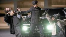 "From the studios' perspective, Jay Chou's character in ""The Green Hornet"" represents evil ticket sales and his victims are actually innocent studio bosses."