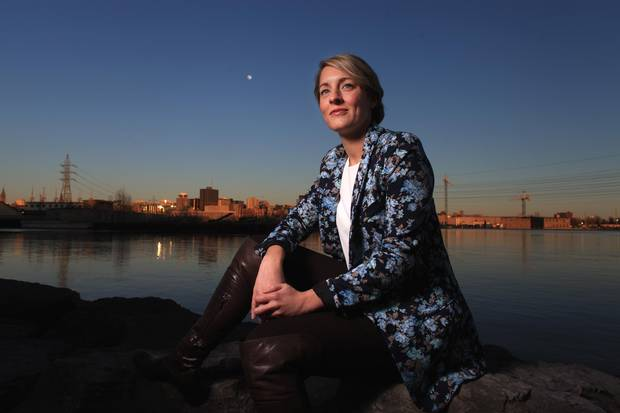 Heritage Minister Melanie Joly poses for a portrait along the Ottawa River on April 19, 2016, in Gatineau, Quebec.