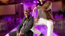 Chris Tyrell, left, and Jim Searle started the Dare to Wear Love gala and show, which challenges designers to make outfits from African fabrics. (PETER POWER/THE GLOBE AND MAIL)