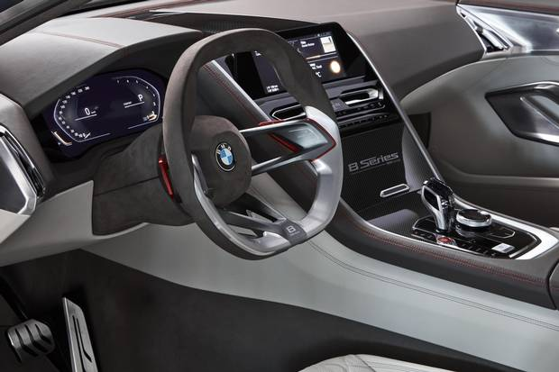 The interior of the BMW Concept 8 Series.
