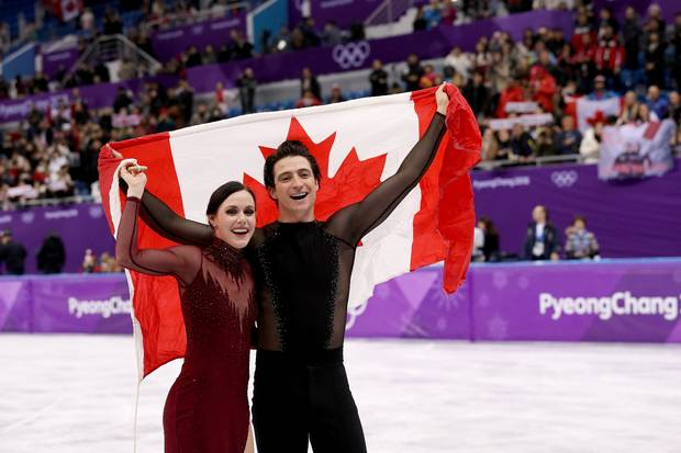 Image result for Tessa Virtue and Scott Moir of Canada  won gold madel