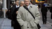 National Hockey League Players Association Executive Director Donald Fehr arrives for talks, in New York, Friday, Nov. 9, 2012. (Richard Drew/AP)