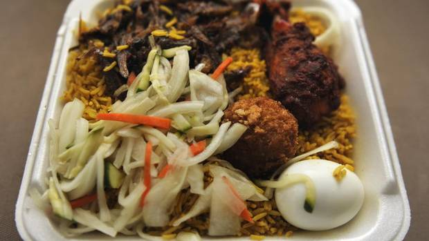 Chicken biryani from Nantha Caters (The Globe and Mail/Fred Lum)