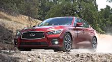 Infiniti built the Q50 in the hopes of rivalling the BMW 3-Series, Mercedes-Benz's C-Class and the Audi A4. (Infiniti)