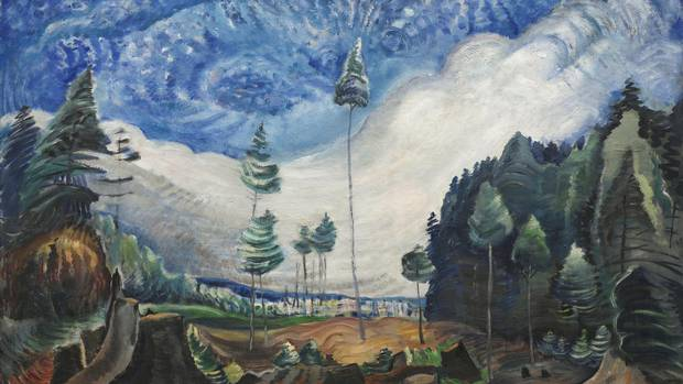 Emily Carr's Loggers' Cull, 1935, critiques human intervention on the land and applauds nature's power to remain and grow.
