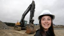New Engineer graduate, Jessica Mandville, will start work with Lindsay Construction on May 9. (Paul Daly)