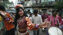 A festival procession through the streets of Calcutta, India. (Bikas Das/Associated Press/Bikas Das/Associated Press)