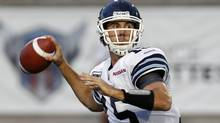 Toronto quarterback Ricky Ray will need help in the pocket if the Argos want to establish themselves as contenders this season. (CHRISTINNE MUSCHI/REUTERS)