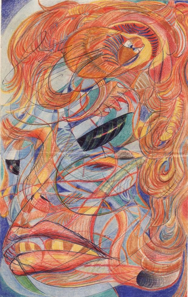 A sample of John's art.