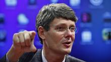 Research In Motion CEO Thorsten Heins, who took over as RIM's president and CEO Jan. 22, has promised to bolster the BlackBerry franchise in the U.S., a key market where the brand has faded over time. (Eduardo Munoz/Reuters/Eduardo Munoz/Reuters)