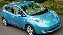 The Nissan Leaf electric car. (The Canadian Press)