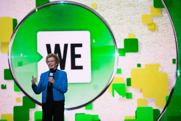Mary Robinson talks about climate change during WE DAY on Sept. 20, 2017 in New York, NY.