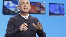 Steven Sinofsky speaks at Microsoft's launch event for the Windows 8 operating system in New York, Oct. 25, 2012. (LUCAS JACKSON/REUTERS)