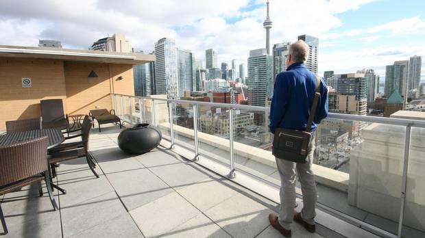 Architect Sheldon Levitt on the roof at The Morgan.
