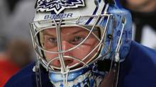 James Reimer #34 of the Toronto Maple Leafs altered his off-season routine this year. (Photo by Bruce Bennett/Getty Images) (Bruce Bennett/Getty Images)