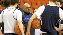 Ryerson men's basketball head coach Roy Rana runs a practice at the Metro Centre in Halifax, March 8, 2012. (Paul Darrow for the Globe and Mail/Paul Darrow for the Globe and Mail)