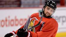 Ottawa Senators' Cory Conacher takes part in a practice during an off day in first round NHL Stanley Cup playoff hockey at the Scotiabank Place in Ottawa on Wednesday, May 8, 2013. (The Canadian Press)