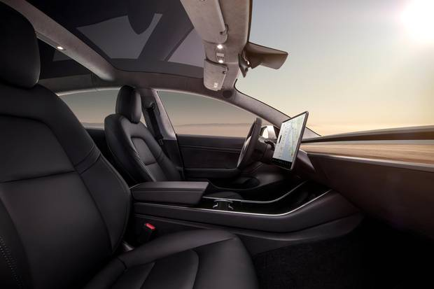 The Model 3's forward field of vision – uninterrupted by knobs, lights and levers – is expansive.