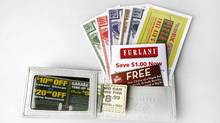 Consumers looking for bargains are increasingly clipping coupons. (Deborah Baic, The Globe and Mail)