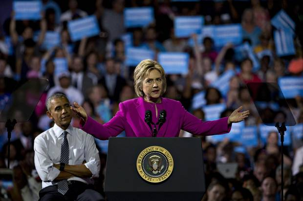 Hillary Clinton and Barack Obama at a North Carolina campaign rally earlier in July. It was their first appearance together on the campaign trail in 2016.