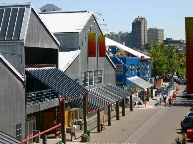 Emily Carr University of Art and Design's Granville Island campus, where the school has been since 1980.