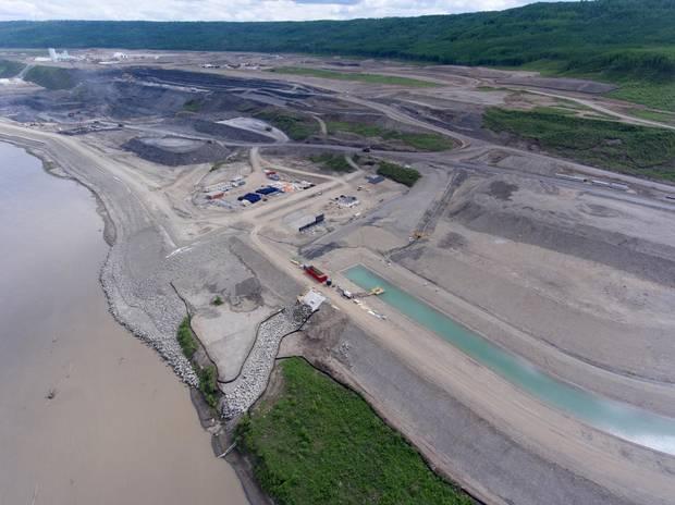 The Site C dam construction site.