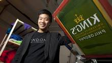 Hyunbin Lee, an immigrant from South Korea and University of Western Ontario student is also Finance Manager of London Print Company which he and his business partner run out of their home near campus in London, Ont. (Geoff Robins for The Globe and Mail)