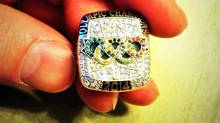 Canadian curler Brad Jacobs had this ring stolen from a hotel room in Alberta. (RCMP)
