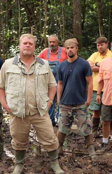 REALITY Bamazon (History, 7 p.m.) Looking to start the new year with a fresh reality-TV addiction? Consider this new series documenting a bold venture by Alabama real estate mogul Tim Evans to find gold in the Amazon. Allen enlists seven out-of-work construction workers, most of whom have never been out of the U.S. before, for his expedition. Tonight's opener shows the team landing in Guyana with their dreams of finding gold in the dense region populated with venomous snakes, malarial mosquitoes and the occasional hungry jaguar. The bad news: The 24-ton excavator they require to unearth the buried treasure is stuck somewhere in the Amazon jungle. Good luck, fellas.