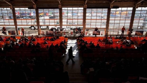 An auction underway at Ritchie Bros. in Nisku.