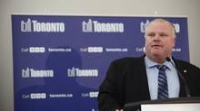 Toronto Mayor Rob Ford addresses the media at a press conference on Jan. 22 2014. (Fred Lum/The Globe and Mail)