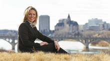 Kirsten Marcia, CEO of Deep Earth Energy Production Corp., in Saskatoon on Monday. DEEP aims to build Canada's first geothermal power plant by tapping into a vast hot aquifer near Estevan, Sask. David Stobbe for the Globe and Mail<133>
