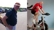 Peter Willson before and after his 35-pound weight loss.
