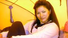 Shriya Shah-Klorfine of Toronto is shown in a Facebook picture from the Mt. Everest's base camp, date May 12, 2012. (HO/The Canadian Press)