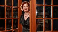 Author Emma Donoghue poses for portraits at her home in London, Ontario (Dave Chidley for The Globe and Mail)
