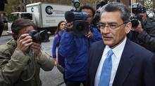 Former Goldman Sachs Group Inc. board member Rajat Gupta arrives at Manhattan Federal Court in New York, Oct. 24, 2012. (LUCAS JACKSON/REUTERS)