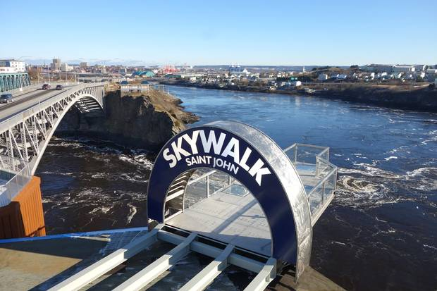 Skywalk Saint John gives visitors a bird's-eye view of the Reversing Falls, a natural phenomenon that has attracted visitors for ages.