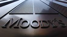A Moody's sign on the 7 World Trade Center tower is photographed in New York August 2, 2011. (MIKE SEGAR/Mike Segar/Reuters)