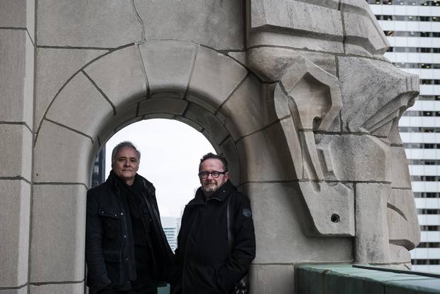 David Pontarini, above left, of Hariri Pontarini Architects, and Michael McClelland, right, of ERA Architects, are among the architects behind a proposal to overhaul Toronto's Commerce Court West.