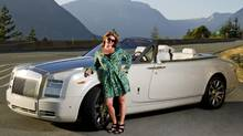 Alexandra Gill was smitten by this white-on-white 2013 Phantom Series II Drophead Coupe. (Derek Atchison)