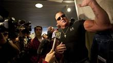 Brutus (The Barber) Beefcake appears at Toronto Mayor Rob Ford's office at City Hall on Nov. 7, 2013 (DEBORAH BAIC/THE GLOBE AND MAIL)