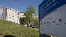 The Hotel Dieu Hospital is shown Monday, June 3, 2013 in Levis, Que. (Jacques Boissinot/THE CANADIAN PRESS)