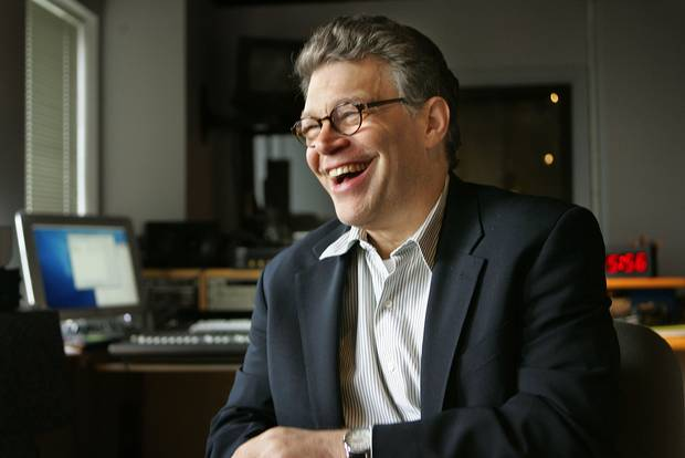 Jan. 4, 2006: Al Franken laughs during an interview with Associated Press in Minneapolis.