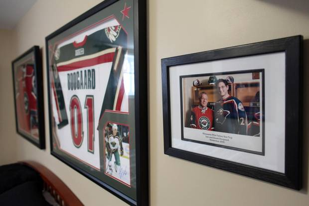 Family photo of Len Boogaard and late NHL player Dereck Boogaard is seem at Len Boogaard's home January 5, 2017 in Ottawa.