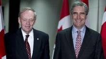 Liberal Leader Michael Ignatieff arrives at a reception with former prime minister Jean Chretien on April 27, 2011 in Toronto. (Paul Chiasson/Paul Chiasson/The Canadian Press)
