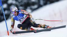 Erik Guay of Canada skis during the men's downhill training at the World Alpine Skiing Championships in Schladming February 7, 2013. (DOMINIC EBENBICHLER/REUTERS)