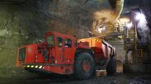 Production at the HudBay flagship mine, the 777 in Flin Flon, Man.