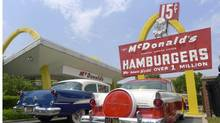 The McDonald's Restaurant USA #1 Store Museum is seen in Des Plaines, Illinois, May 26, 2012. It is a recreation of the first McDonald's restaurant that opened in Des Plaines in April 1955. (© Jim Young / Reuters/REUTERS)